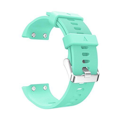 Lisin Replacement Wrist strap Silicagel Soft Band Strap For Garmin Forerunner 35 Smart Watch Accessories (Mint Green)