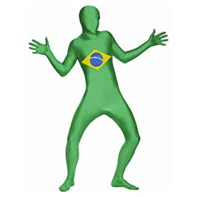 - 41elPgRvmpL - SecondSkin Men's Full Body Spandex/Lycra Suit with Brazil World Flag Design
