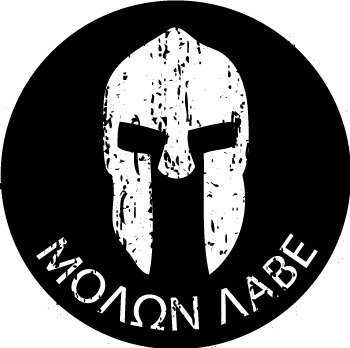 MOLON LABE Helmet circle (3 pack) Construction Union Oilfield Funny Stickers Decals Printed (size: 2
