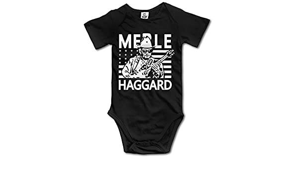 Baby Toddler Merle Haggard Country Music Logo Cotton One Pieces Jumpsuit