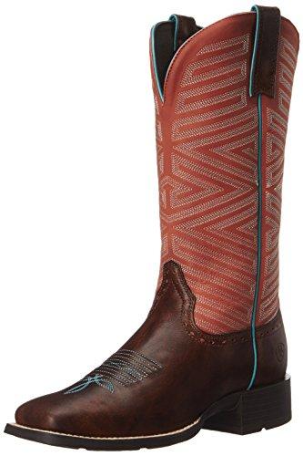 Ariat Kvinna Outsider Western Cowboy Boot Yukon Brun / Eldröd