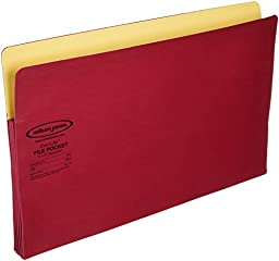 Wilson Jones Colorlife Recycled (50%) Expanding File Pockets, Legal Size, 5-1/4\