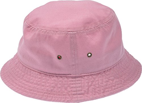 Hand By Hand Aprileo Women's Bucket Hat Floral Solid Camo Cotton Washed Summer [Pink](Small/Medium)]()