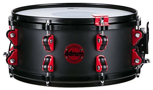 Ddrum Hybrid Snare Drum with Trigger 13 x 6 in. Satin Black (Snare Hybrid)