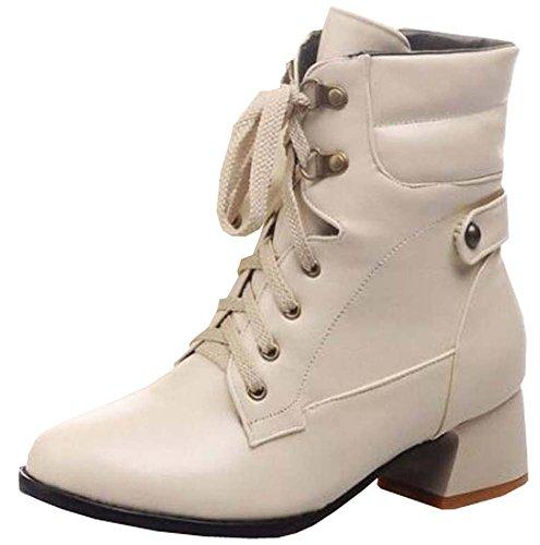 Fashion Martin Stiefel kurz Stiefel Damen Stiefel Beige