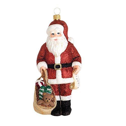 Reed & Barton Classic Christmas Santa with Toys - Blown Barton Ornaments Glass