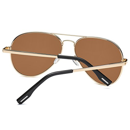 revo de lentes de polarizadas aviador doble oscuro marron amztm marco puente Metal Gafas espejo sol qRpPgXxw