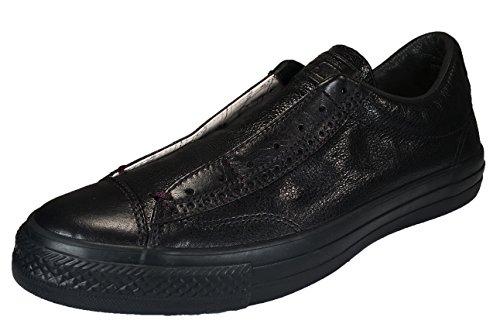 Converse by John Varvatos Leather Vintage Slip On Sneaker Black Mono