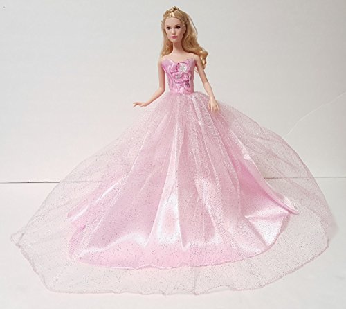 OOAK Barbie Doll Handmade Glam Fashion Pink Ball Gown Dress Outfit Clothes
