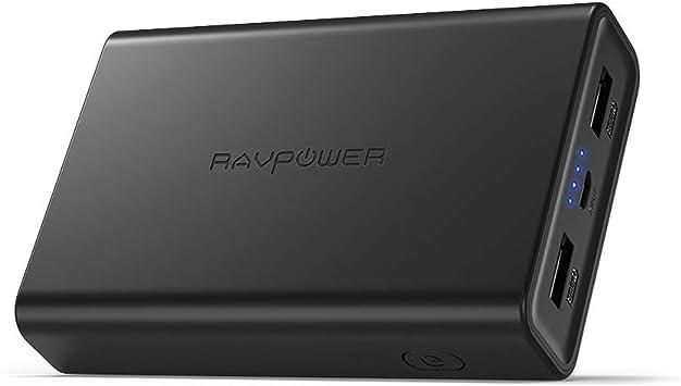 RAVPower Cargador portátil 10000 mAh Power Bank, Batería compacta de 10000 con Potencia 3.4 a, Alta Velocidad Carga, Dos Puertos USB iSmart 2.0, Cargador portatil para Smartphone y Tablet: Amazon.es: Electrónica