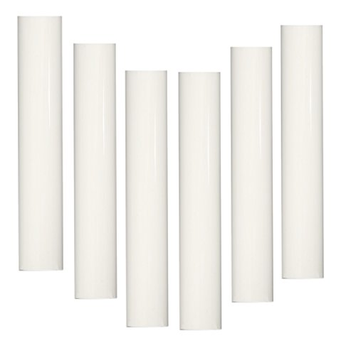 6 Tall Ecru Candelabra Base 3//4 Inner Diameter Thin Base Beeswax Candle Covers Set of 6 pc Socket Sleeves