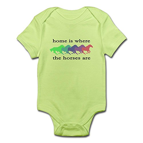 CafePress Home Is Where The Horses Are Infant Bodysuit - Cute Infant Bodysuit Baby Romper