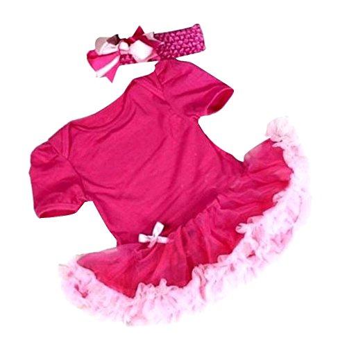 Weixinbuy Baby Toddler Ruffles Tutu Romper Jumpsuit Outfit Dress 0-3M