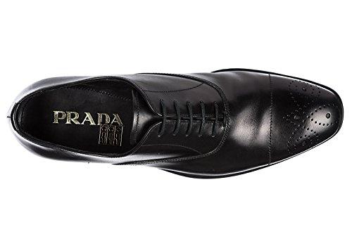 Prada Mens Classique En Cuir Lacé Chaussures Formelles Noir