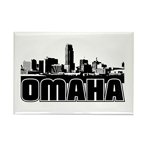 CafePress Omaha Skyline Rectangle Magnet, 2