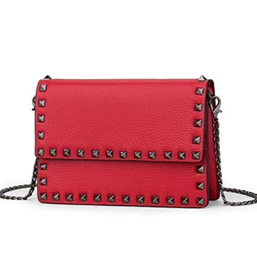 Skew Spring Chain Bolso Mujer GLQyM Fashion Spanning De Women's Leather Pequeño Bag American European Bolso Bag and zPfqnPd6