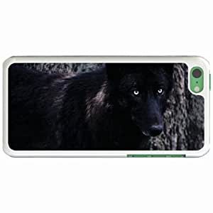 Personalized Apple iPhone 5C Back Diy PC Hard Shell Case Wolf White