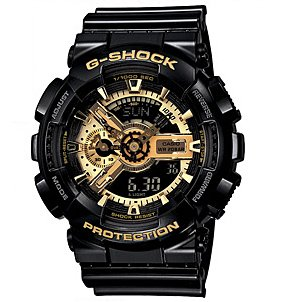 G-Shock Men's Military GA-110 Watch, Black/Gold, One Size