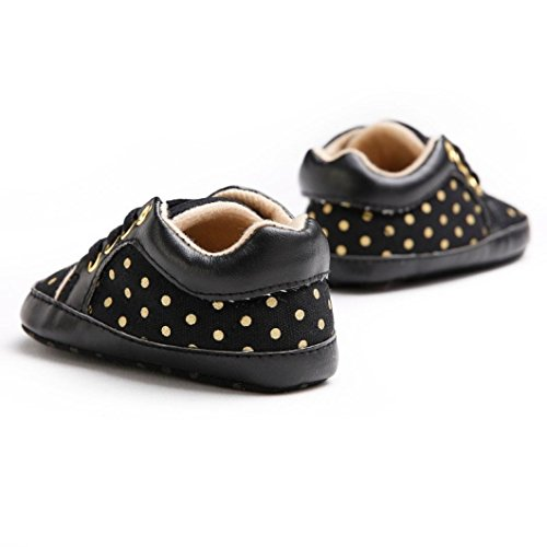 Tefamore Zapatos bebe de anti-slip sole suave zapatilla de deporte de bebé para niños pequeños Negro