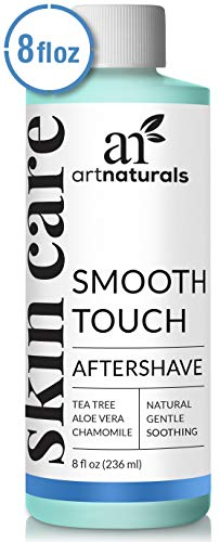 (ArtNaturals Smooth Touch Ingrown Hair Removal Serum - (8 Fl Oz / 236ml) - Natural Aftershave For Razor Burns, Bumps & Redness - For Men, Women, Face, Body & Bikini Lines)