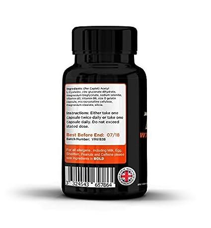 Testosterona - Suplemento nº 1 para hombres y mujeres | 60 Capsulas | Alcanzar niveles normales de testosterone | Reducción de fatiga | Obtención metabólica ...
