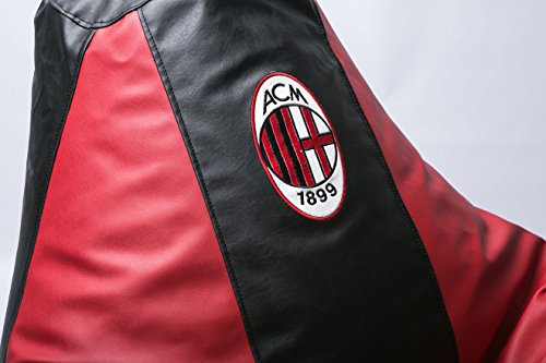 Milan Football Beanbag Comfortable Kids Adult Game Lounge Chair Cover (Without Beans)