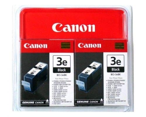 Canon Bci3Ebk (Bci-3E) Ink Tank, 560 Page-Yield, Black, Case of 2 ()