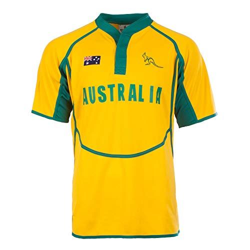Rugby Nation Camiseta de rugby 100% poliéster, ideal para uso diario, y jugar al rugby, disponible en tallas de (XS-XXXL…