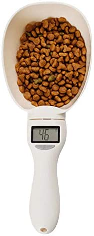 800g Pet Food Measuring Scale Cup for Dog Cat Feeding Bowl Kitchen Scale Spoon Scoop Cup Portable with Led Display