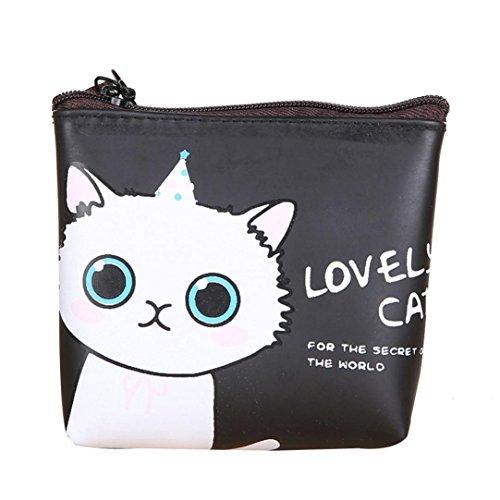SunWard (TM) Fashion Cat Printed Coin Purse Wallet Bag (Color - Purse Cat Favorite