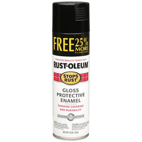 RUST-OLEUM 254146 Stops Rust 16-Ounce  Gloss Black Spray Pai
