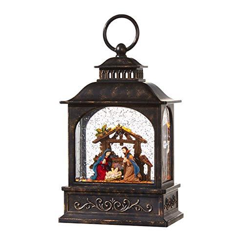 RAZ Imports Nativity Scene Lighted Water Lantern 8 Inch...