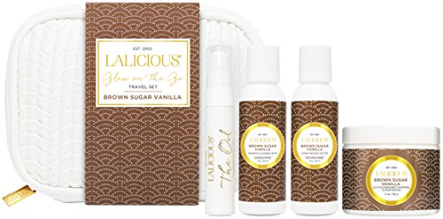 - LALICIOUS - Brown Sugar Vanilla Glow on the Go Travel Set