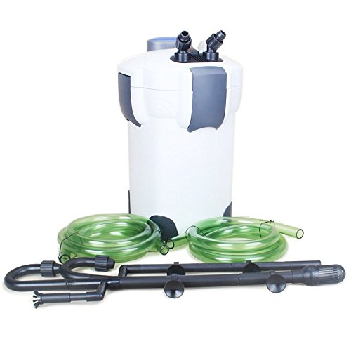 - Sunsun HW-304B 525 GPH 5-Stage External Canister Filter with 9-watt UV Sterilizer