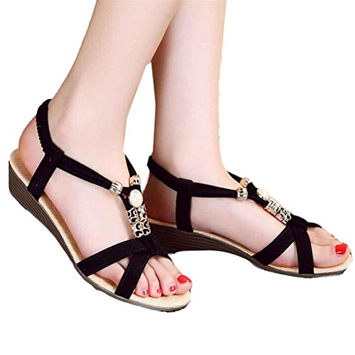Casual SandalsElaco Summer Women Flat Sandals for Women Beach Shoes