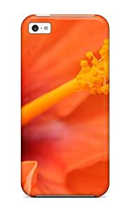 Amberlyn Bradshaw Farley's Shop New Style Case Cover Orange Hibiscus Flower Iphone 5c Protective Case