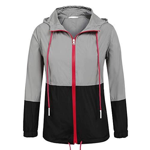 aihihe Womens Rain Jackets Lightweight Breathable Raincoats Waterproof Active Outdoor Hooded Windbreaker Trench Coats