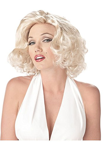 [Mememall Fashion Marilyn Monroe Movie Star Halloween Costume Wig Blonde] (Marilyn Monroe Deluxe Adult Costumes)