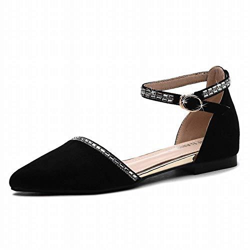 Noir Oudan Chaussures Noir 35 Sandales coloré Individuelles Pointues Pour Taille Femmes Dames Fashion 77TrqS4wx