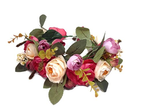 Bridal Flower Crown Wedding Headband: S2 (MRR) (Blossom Crown)