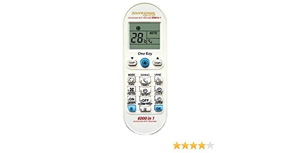 Mando a Distancia Universal para Aire Acondicionado Airco Plus- Reemplazo: Amazon.es: Electrónica