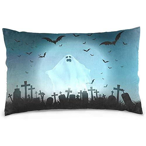 ZOZGETU Pillowcase,Halloween Landscape Pillow Case Sofa Bed Throw Pillow Cover Cotton Zipper 20x26 Inch