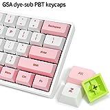 YUNZII SK61S Pink Wireless 60% Keys NKRO Gateron