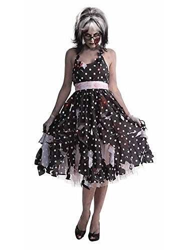 Woman's Zombie Housewife Costume, Black/White, One Size]()