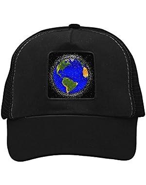 Unisex Blue Earth Adjustable Classic Hiphop Hat Baseball Cap Snapback Dad Hat
