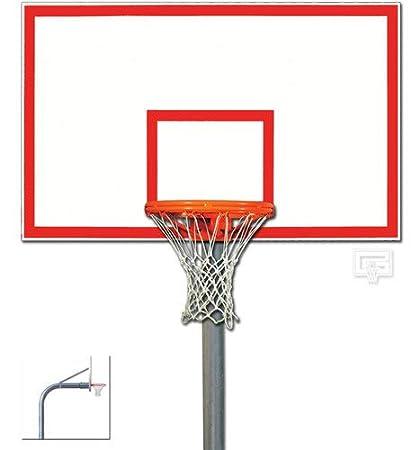 727374abd01 Amazon.com   Braced Front Mount Heavy Duty Gooseneck Basketball ...