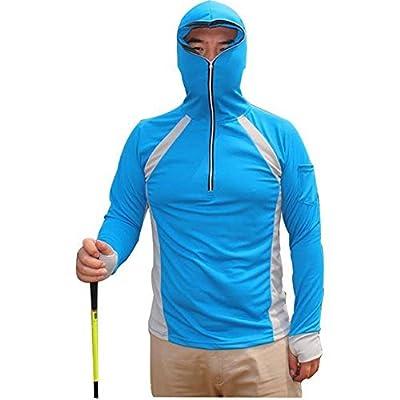 LANBAOSI Men's Anti-UV Sunscreen Protection Skin Coat Outdoor Quick Drying Fishing Shirts