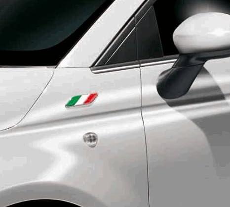 V/éritable Fiat Aile Pour Fiat 500 Avec Badge Drapeau Italien Officiel 50901681