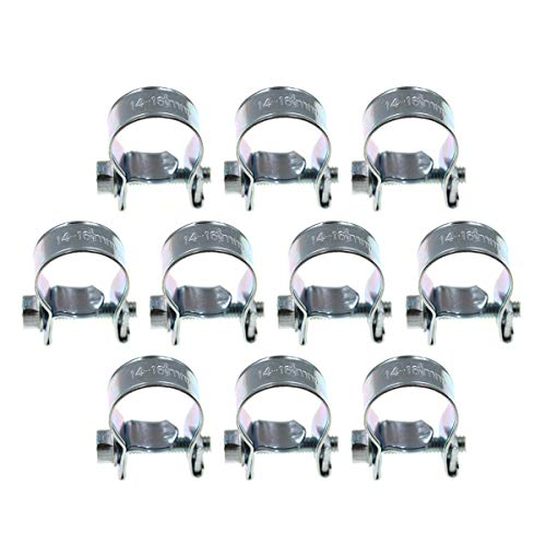 (AUTOKAY Pack of 10 Fuel Injection Hose Clamps Stainless Steel Replacemnt for AAS 3/8