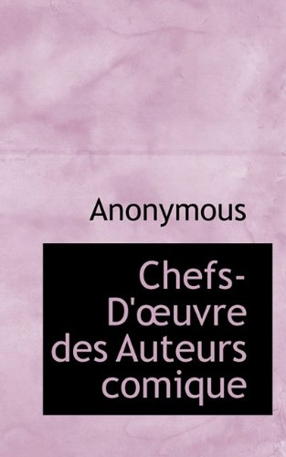 Chefs-D'?uvre des Auteurs comique ebook